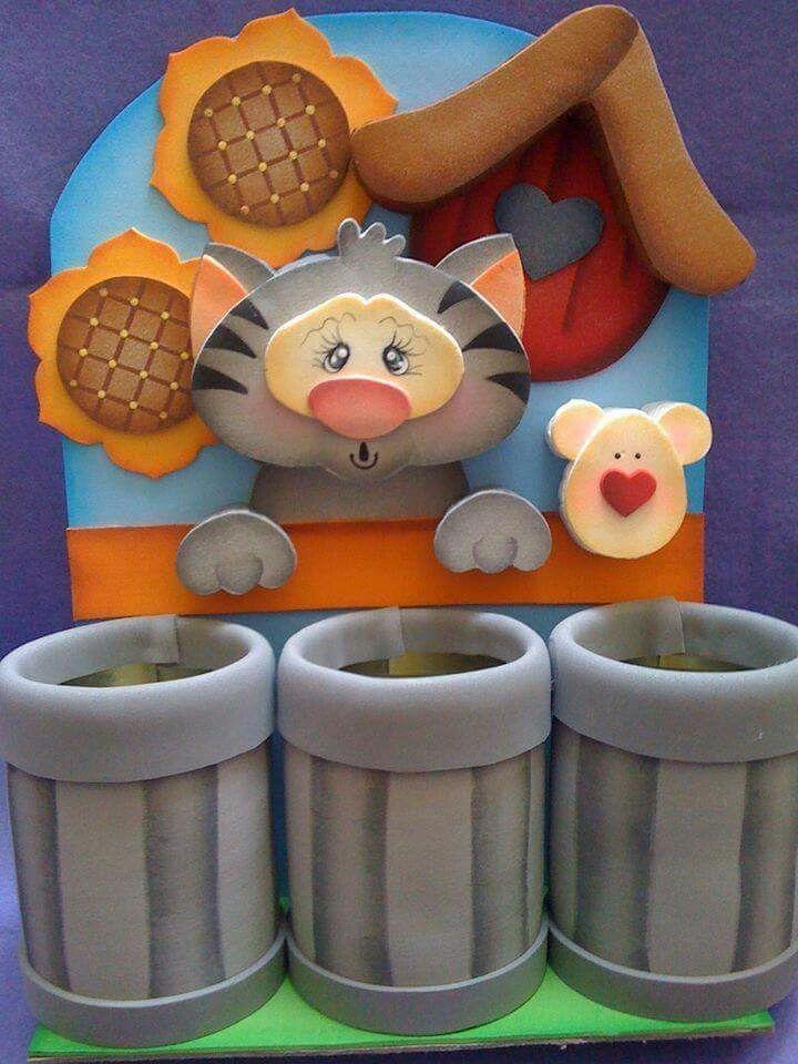 organizadores con latas