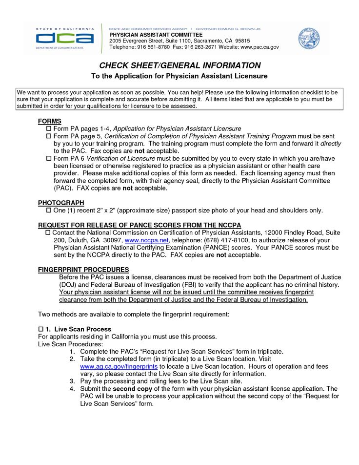 physician assistant resume sample free templates