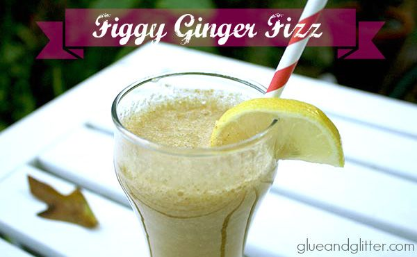 Figs are delicious! Let's make a figgy ginger fizz! You can even leave out the booze for a fig soda, if vodka's not your thing.