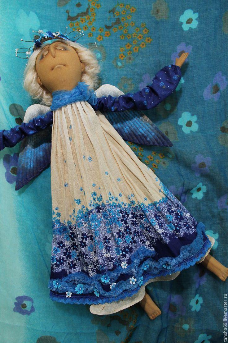 Купить Паря над миром...Ангел - текстильная кукла, ароматизированная кукла, интерьерная кукла, ангел