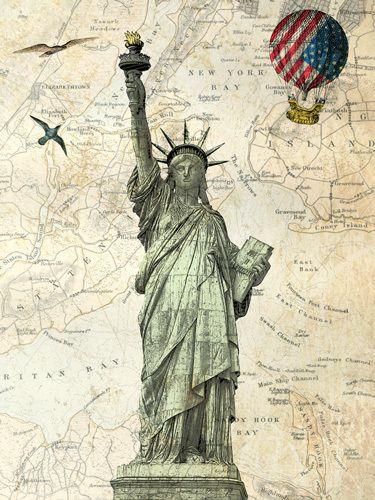 Liberty Ballon  Art Print by Marion McConaghie #contemporaryart #femaleartist #IWD
