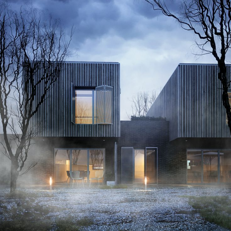 Student housing project by Nadau Lavergne studio located in France.: Architecture Rendering, Behance, Lavergn Studios, Nadau Lavergn, Design Architecture, Studios Locations, Students House, Architecture Visual, Birds Hunt'S