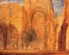 Interior of Fountains Abbey Yorkshire - Joseph Mallord William Turner, 1775-1851 - OldMastersOnline.com