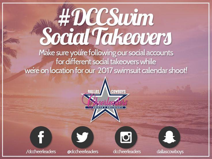 Dallas Cowboys Cheerleaders #DCCSwim Social Takeovers