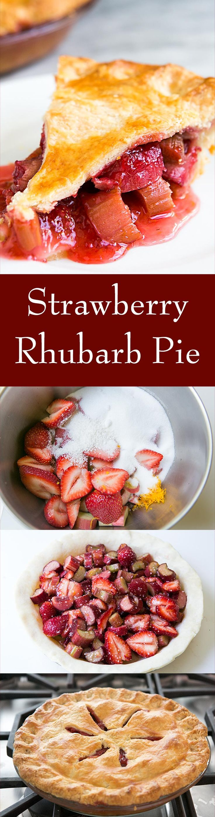 The BEST Strawberry Rhubarb Pie recipe! Sweet fresh strawberries paired with tart rhubarb and a hint of orange zest. On SimplyRecipes.com (Best Cake Strawberry)