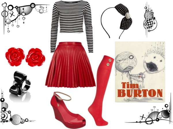 """""""Tim Burton style"""" by llucak ❤ liked on Polyvore"""