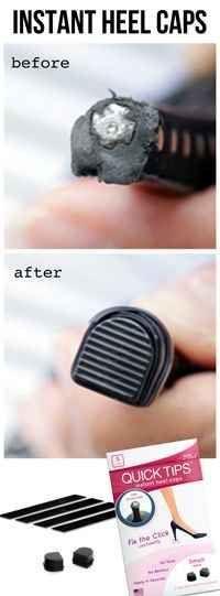 Fijar los talones desgastados abajo con tapas talón instantáneos.