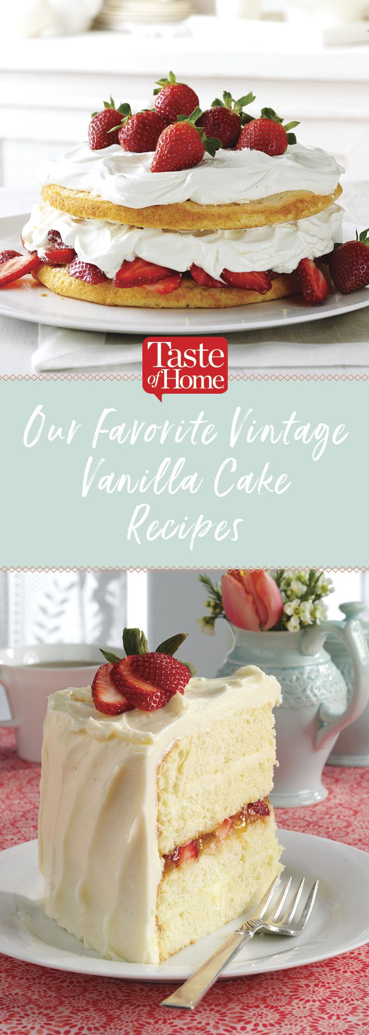 Our Favorite Vintage Vanilla Cake Recipes