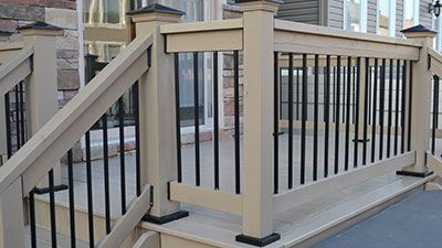 Deck Railing Post Anchor Install Posts To Deck Without