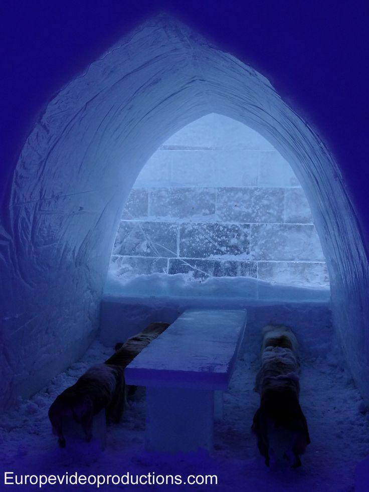 Ice Restaurant of Snowman World in Rovaniemi in Lapland