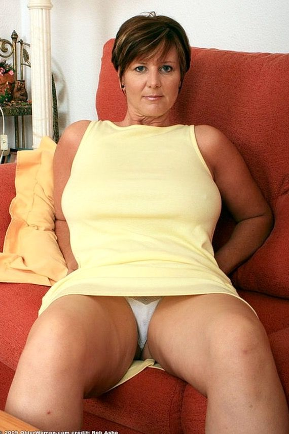 Mature lady upskirt