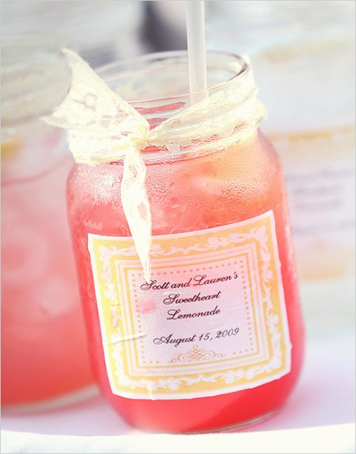 I just ordered jars to make these for Ceremony Refreshments!