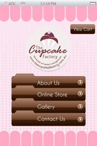 The Cupcake Factory iPhone app. Browse some of our cupcake products.