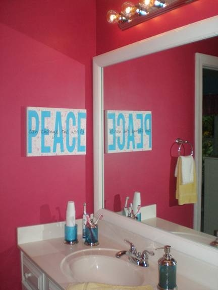 Makeover Spotlight   Tween Bath   Pemquid Porcelain White Frame Mirror, New  Counter?
