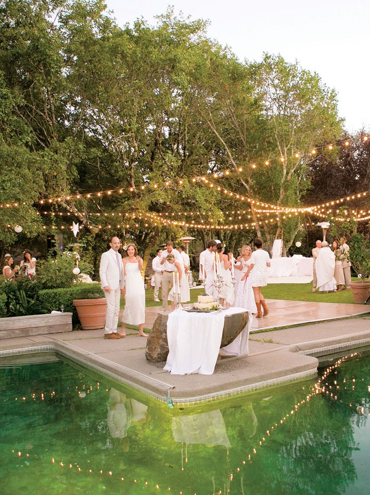 wedding venues in londonderry%0A Lights were strung over the pool and dance floor   weddings