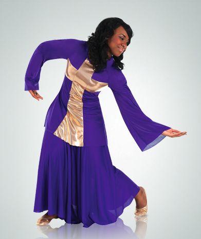 621 Praise Dance Cross Pullover $24.00