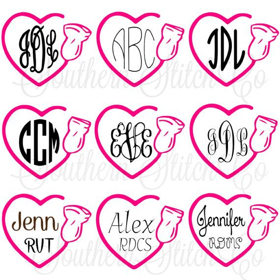 Sonographer Heart Solid Vinyl Monogram Decal by SouthernStitchCo