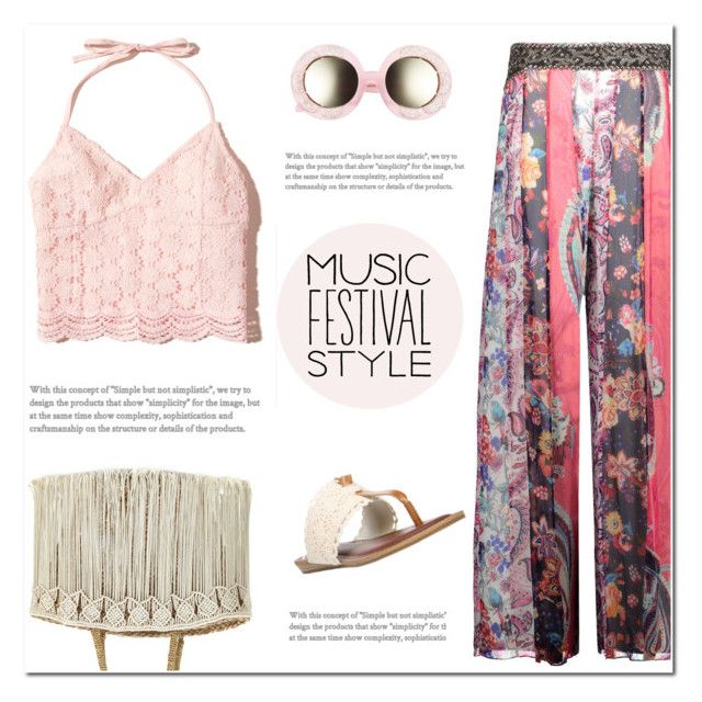 """""""Happy Hippie"""" by arohii ❤ liked on Polyvore featuring Haute Hippie, Hollister Co., VOW London, Fergalicious, Flora Bella, musicfestival and festivalfashion"""
