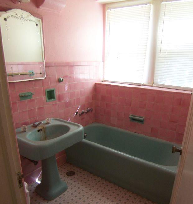 25+ beste ideeën over Roze badkamer vintage op Pinterest - Roze ...