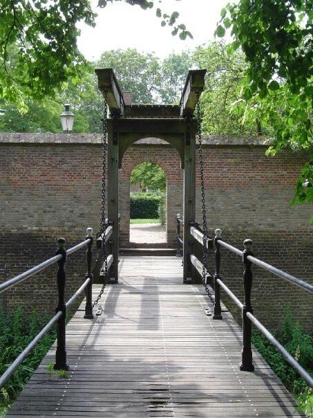 Ophaalbrug Kasteel Doorwerth, Gelderland.