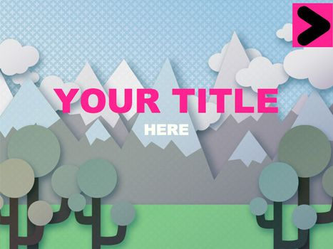 vector hills editable design As well as a nice vector background we've included clickable buttons to move your presentation backward and forward.