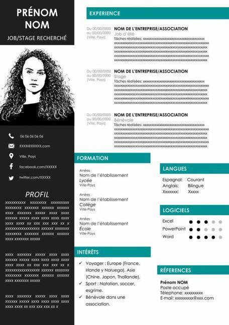 Exemples de CV à Télécharger Gratuit au Format Word | Cv ...