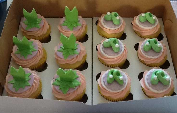 Tinkerbell fairy cupcakes with dresses and shoes