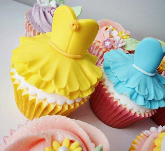 Cupcakes vestido de princesa