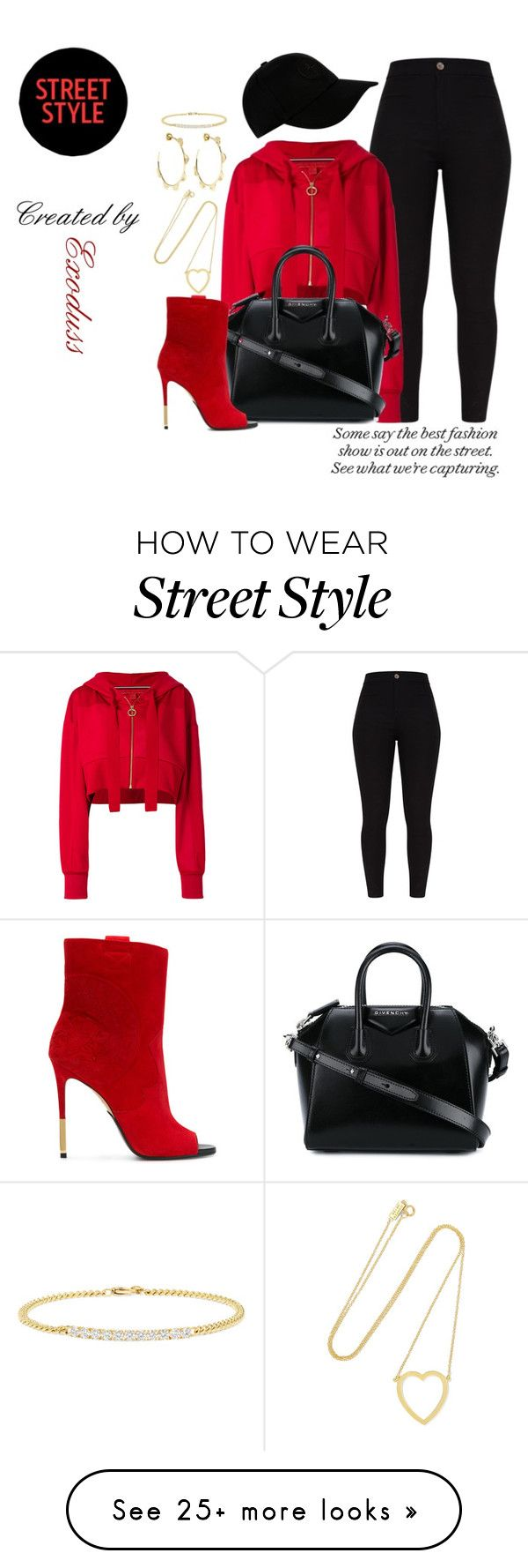 """NYFW Street Style"" by exoduss on Polyvore featuring Tommy Hilfiger, Givenchy, Ippolita, STONE ISLAND, Jennifer Meyer Jewelry, Balmain, Jemma Wynne, contestentry and nyfwstreetstyle"