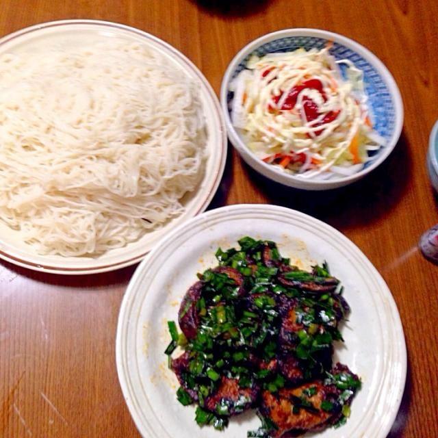 素麺つゆは白だしで両親と - 41件のもぐもぐ - 豚レバ中華風・蒸し野菜のオーロラソース・東御市の素麺 by taroumasaydyZ
