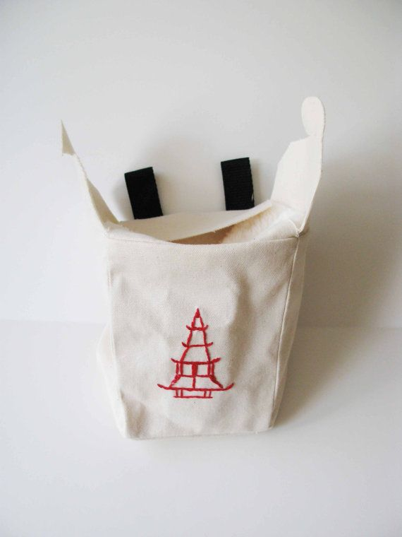 Chinese Take Out Rock Climbing Chalk Bag by AllBeta on Etsy