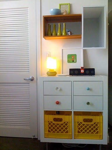 112 best images about milk crate recycler diy. Black Bedroom Furniture Sets. Home Design Ideas