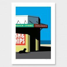 Beach Store Art Print by Glenn Jones