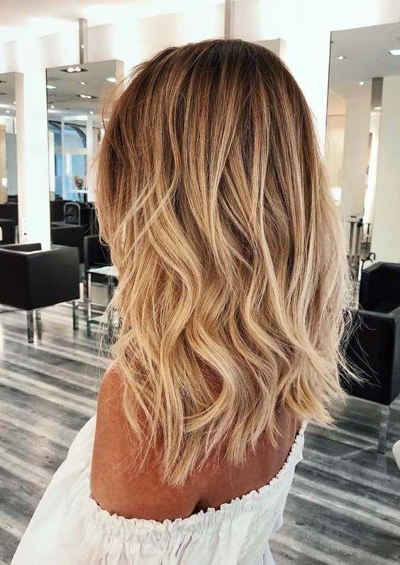 Gorgeous golden blonde hair color ideas for women 2018 – hair – #Blonde … – haar