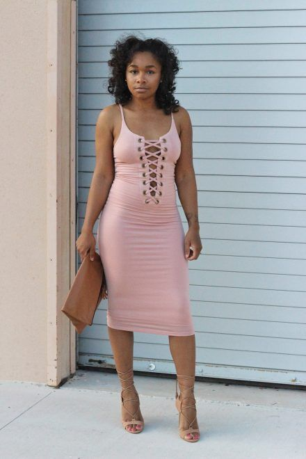StyleLust Pages: Lace Up Dress