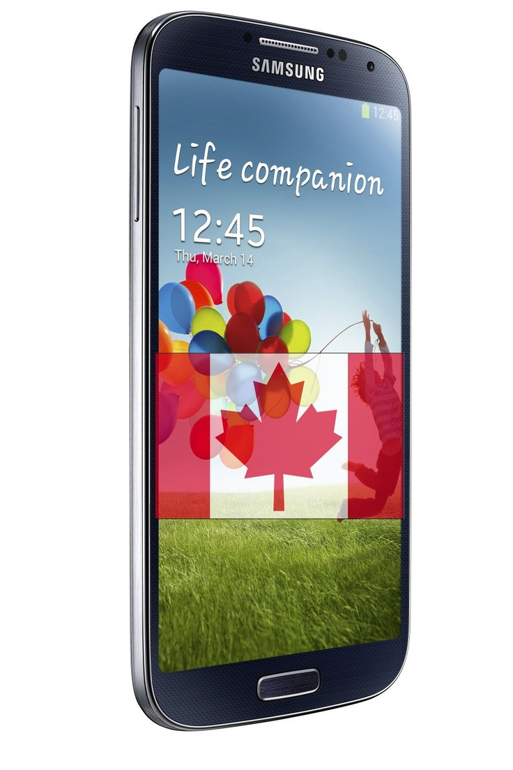 In Canada, Samsung Galaxy S4 will arrive in the middle of April, 2013