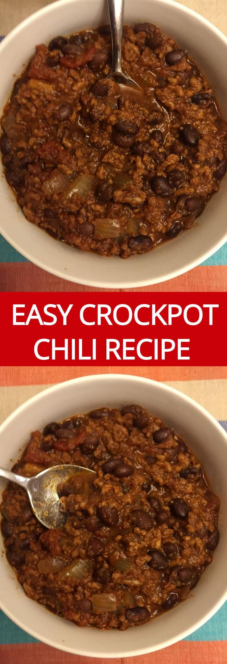 Easy Slow Cooker Beef Chili Recipe - this the the best chili ever! | MelanieCooks.com