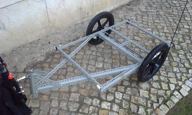 Another version of light DIY bike trailer