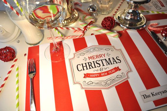 Personalized Paper Placemats Christmas Holidays by TIPgifts ...
