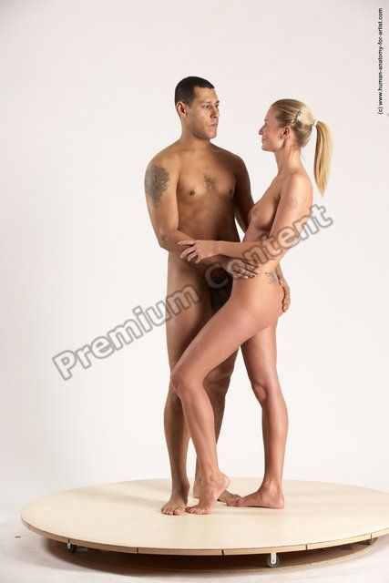 PHOTO OF NUDE WOMAN - MAN ANOTHER STANDING POSES - ALL SLIM SHORT BROWN STANDING POSES - SIMPLE MULTI ANGLES POSES