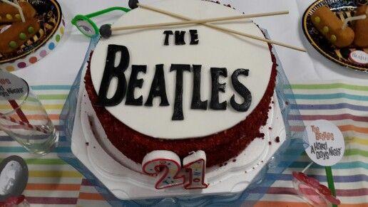 The Beatles birthday cake red velvet