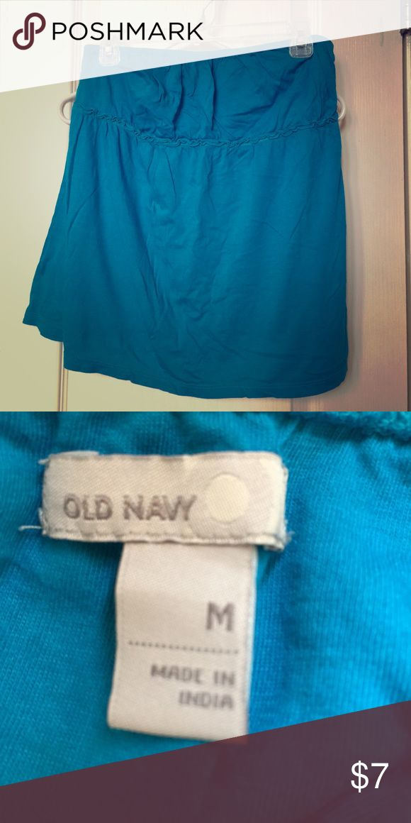 Ladies tube top Old Navy brand, aquamarine color, size medium. Worn a few times but in great condition. Old Navy Tops Tank Tops
