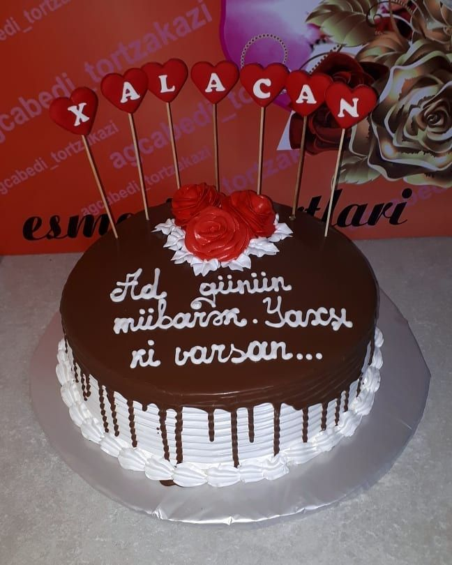 Ad Gunun Mubarək Məlahət Xala Esmerintortlari Esmerscake Cakephotography Cakechocolate Chocolatecake Cakedecorating Cakedeco Easy Treats Desserts Cake