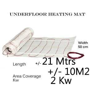 Under Floor Heating Mat - 10m2 area coverage