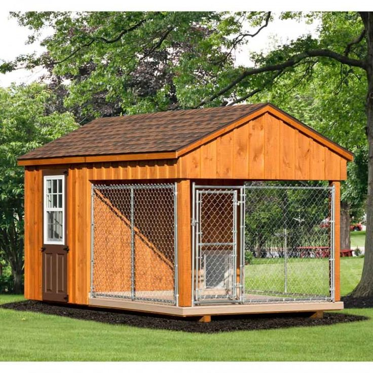 8 x 14 ft amish made dog kennel with feed room amish for Amish dog kennels for sale