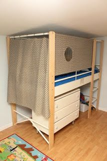 365 Days to Simplicity: The Bunk Bed Curtain