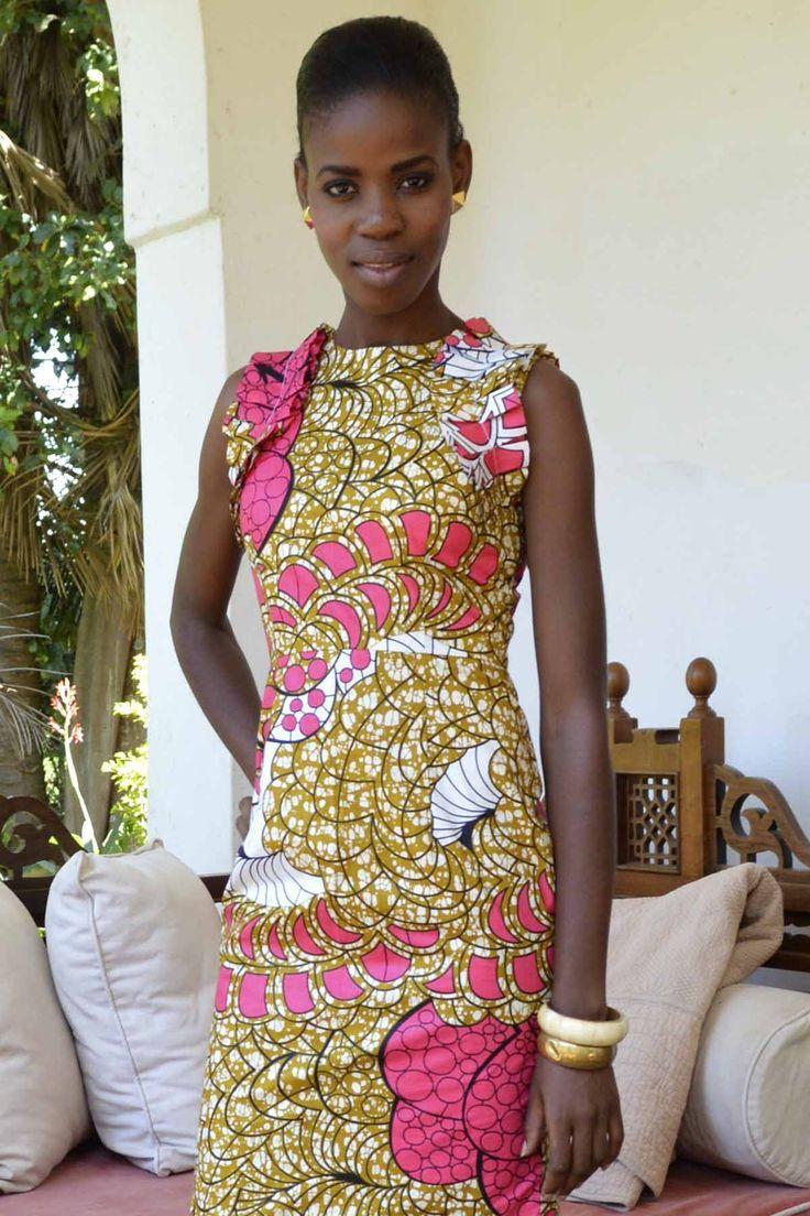 Another cute kitenge dress wax prints pinterest