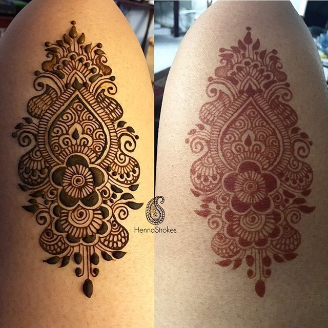 Henna thigh design