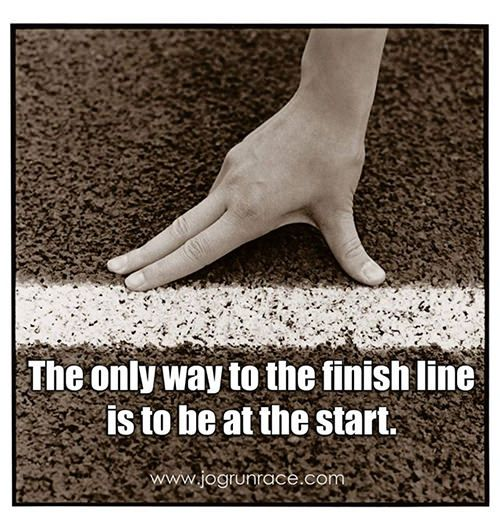 Running Matters #27: The only way to the finish line is to be at the start.