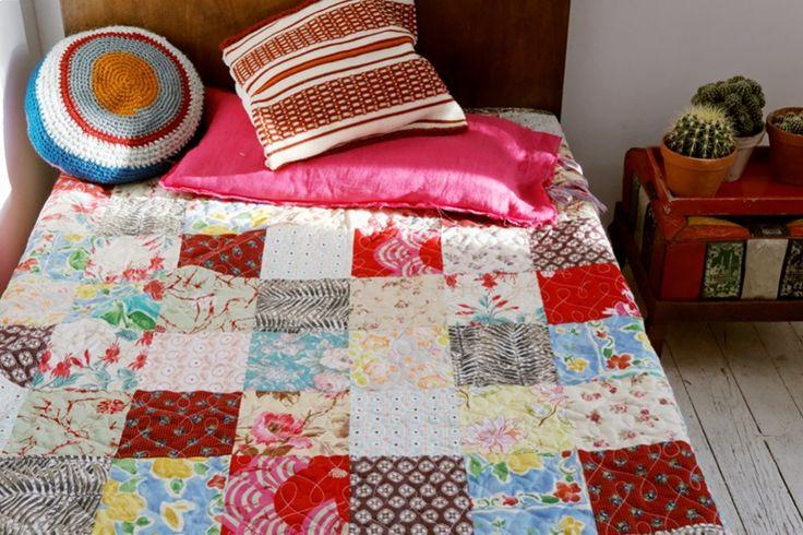 narzuta patchwork w stylu boho - dom artystyczny patchworki wystrój wnętrz